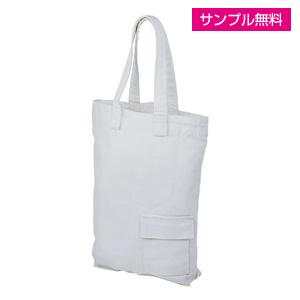 キャンバスエコバッグ(小)(白)