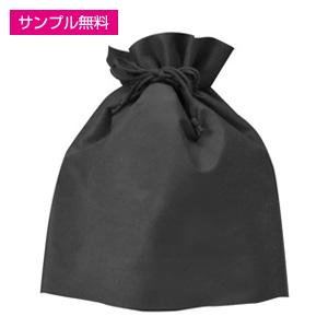 不織布巾着(黒)