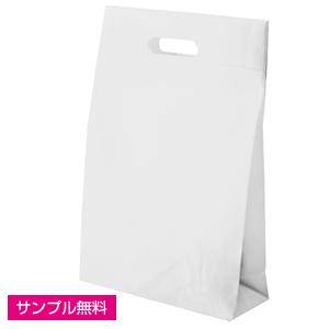不織布マチ付きバッグ(小判抜き)(白)