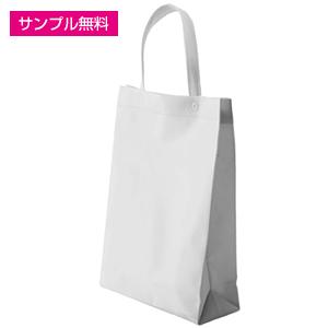 不織布マチ付きイベントバッグ(白)