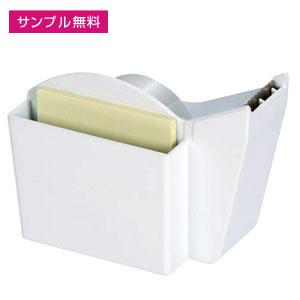ふせん付テープディスペンサー(白)
