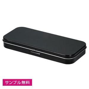 メタリック缶ペンケース(黒)