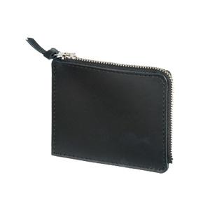 本革ファスナーコインケース(黒)