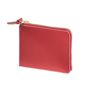 本革ファスナーコインケース(赤)