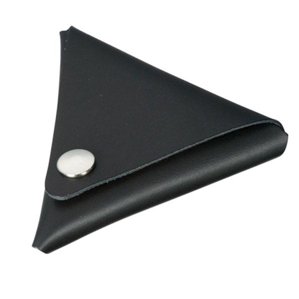 本革三角コインケース(黒)