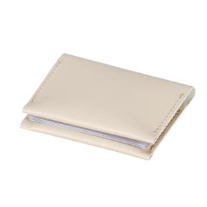 本革カードケース(グレージュ)