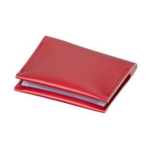 本革カードケース(赤)