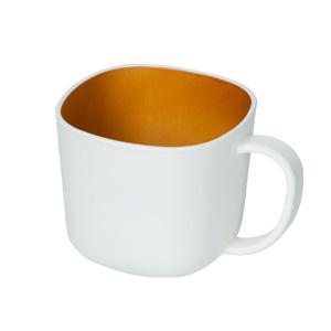 モノトーン木目調マグカップ(280ml)(白)