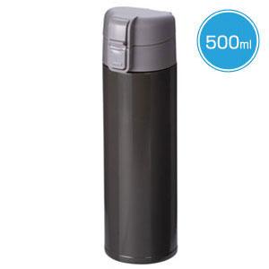 ワンタッチスリムボトル(500ml)(黒)