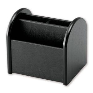 レザー調回転リモコンラック(ブラック)