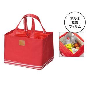 ボトムボーダー 保冷ショッピングバッグ(レッド)
