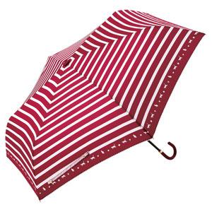 スキップキャット耐風折りたたみ傘(レッド)