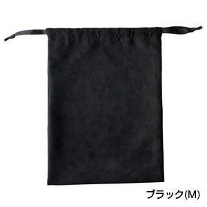 スウェードスタイル巾着(M)(ブラック)