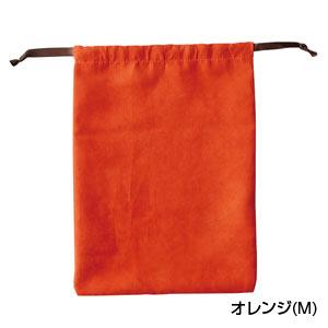 スウェードスタイル巾着(M)(オレンジ)