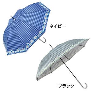フラワーチェック・晴雨兼用長傘