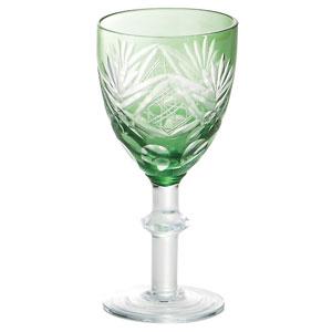 涼香・切子ワイングラス(常盤)