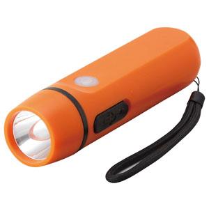ダイナモ式 モバイル充電ライト(オレンジ)