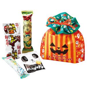 ハッピーハロウィン パンプキン巾着お菓子セット