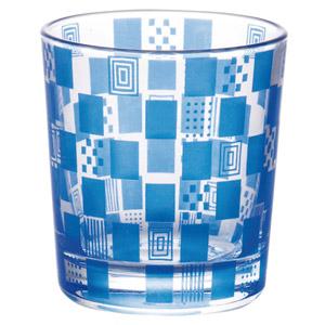 京都くろちく・切子風市松グラス