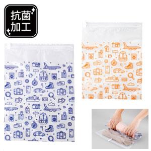 衣類用圧縮袋2サイズセット(抗菌加工)