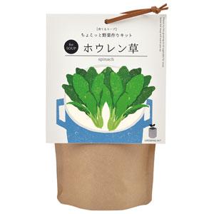 育てるスープ ちょこっと野菜作りキット(ホウレン草)