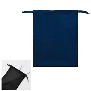 スウェードスタイル巾着(M)(ネイビー)