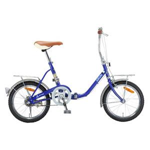 16インチシティ 折りたたみ自転車(ブルー)