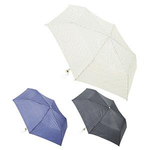ドット柄折りたたみ傘