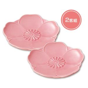 咲楽 はな咲く小皿二枚組