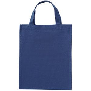 コットンA4バッグ(ブルー)