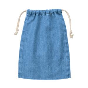 デニム巾着(M) (ヴィンテージブルー)