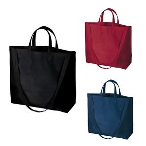 厚手コットンWスタイルバッグ  (カラー)