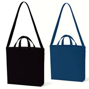 キャンバスWスタイルバッグ インナーポケット付(カラー)