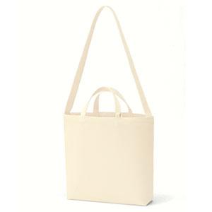 キャンバスWスタイルバッグ インナーポケット付(ナチュラル)