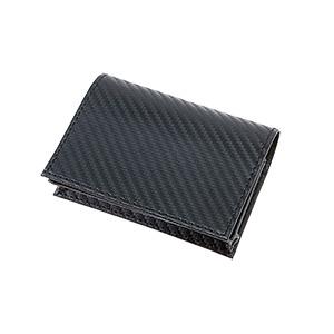 カーボンスタイル レザーカードケース