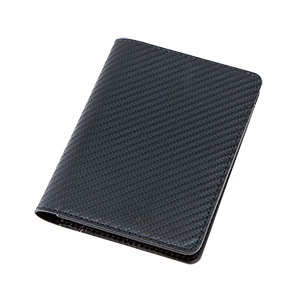 カーボンスタイル レザーパスポートケース