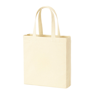 ライトキャンバスバッグ横マチ付(ナチュラル)