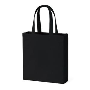 ライトキャンバスバッグ横マチ付(ブラック)