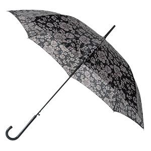 晴雨兼用モノトーン花柄ジャンプ傘