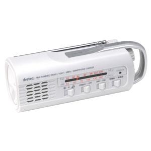 さすだけ充電ラジオライト1台(ホワイト)