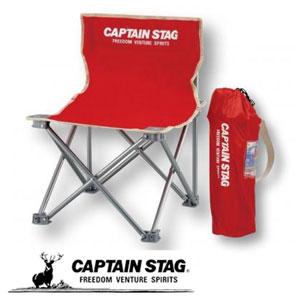 キャプテンスタッグ コンパクトチェアミニ1個(レッド)