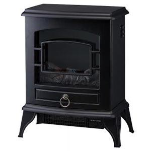 ノスタルジア 暖炉型ヒーター1台(ブラック)