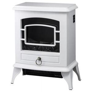 ノスタルジア 暖炉型ヒーター1台(ホワイト)