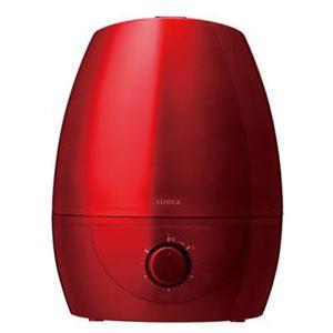 siroca超音波加湿器5L 1台(レッド)