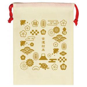 縁起物巾着1個(金運づくし)