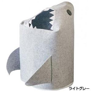 折りたたみフェルトストレージボックス シャーク1個(ライトグレー)