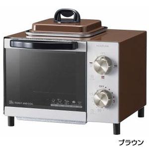 コイズミ 目玉焼きも焼けるオーブントースター1台(ブラウン)