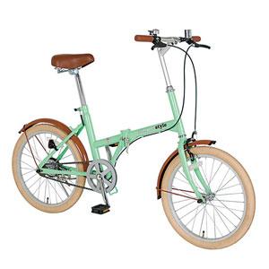 20インチ折り畳み自転車1台(ミントグリーン)