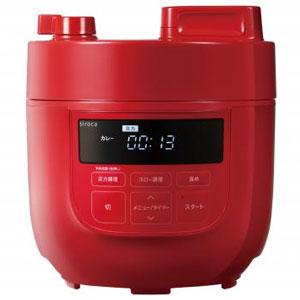 siroca 電気圧力鍋2L1台(レッド)