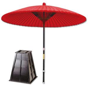 野点傘 朱